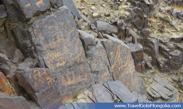 Bichigt Rock Drawings is largest rock drawings in Mongolia possible in Central Asia.