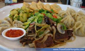 Mongolian traditional meal