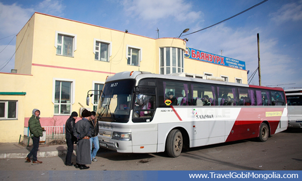 Shuttle bus to Gobi