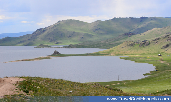 view of Terkhiin Tsagaan Lake
