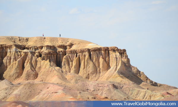 Tsagaan Suvarga Cliff view from a distance