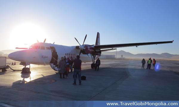 domestic flight in Mongolia