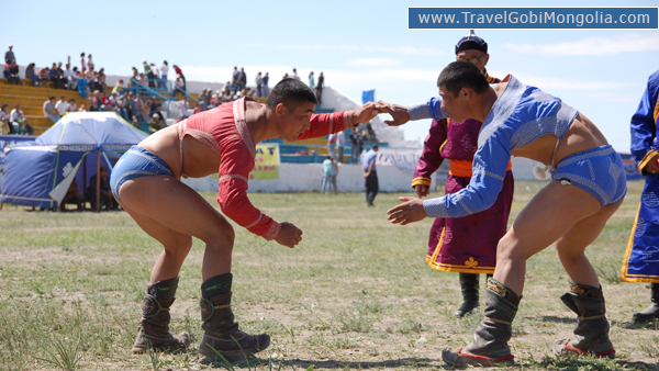 local wresting competition of Naadam Festival