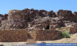 meditation caves at Khamar Monastery area