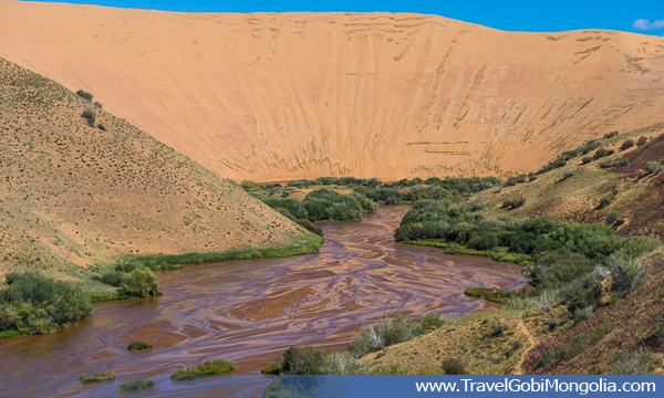 view of Mukhart River & Bor Khyar Sand Dune