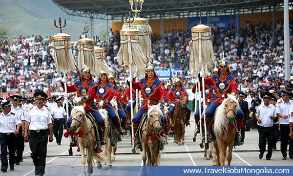 opening ceremony of the Naadam Festival
