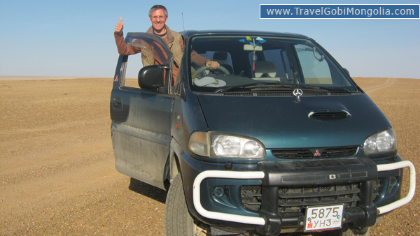our customer drives Mitsubishi off road van in Mongolia