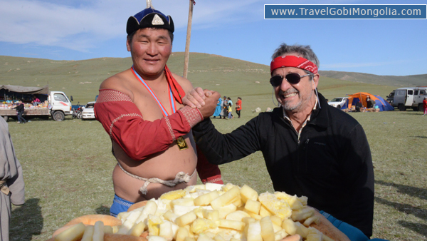 our customer during local Naadam Festival in North Mongolia