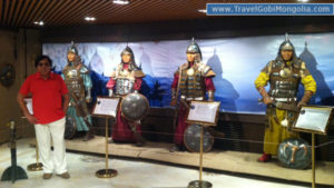 our customer is inside museum of Genghis Horse Statue