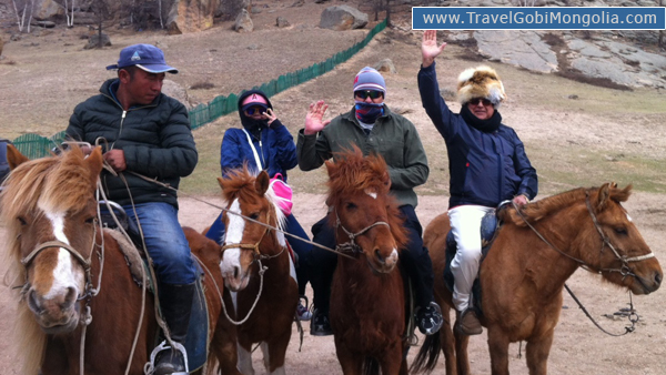 our customers are just going to start horse trek
