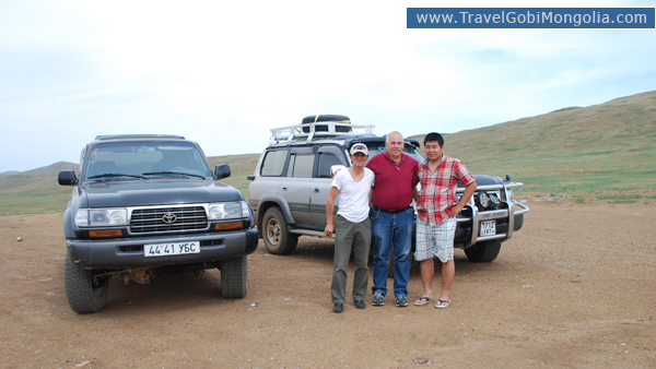 our driver & guide with a customer