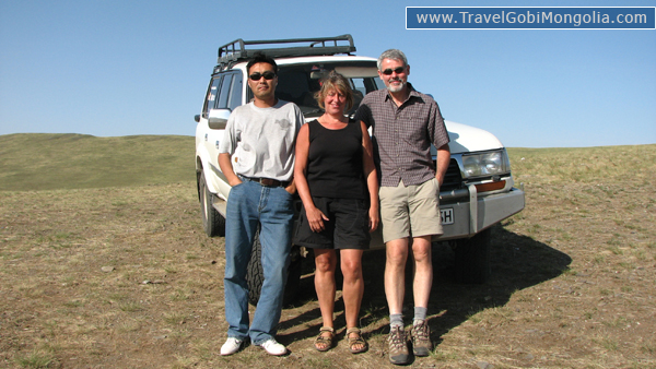 our driver & our 2 customers are in Central Mongolia