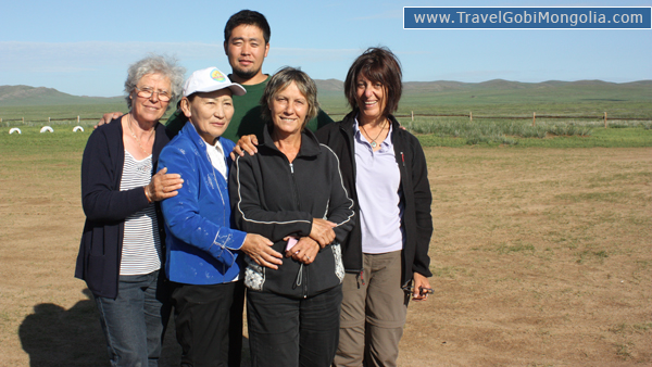 our guide & our 3 customers are in Central Mongolia