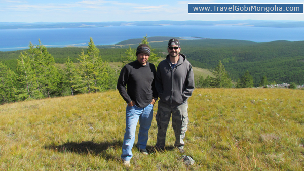 our guide & our customer are in Khuvsgul Lake