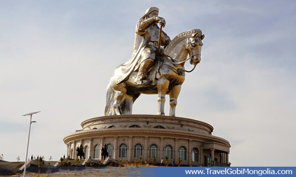 side view of Genghis Horse Statue
