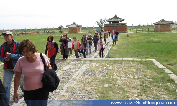 our customers are entering to Erdene Zuu Monastery