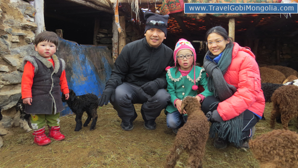 visiting to kazakh nomadic family