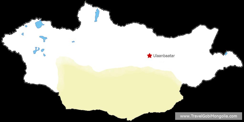 Gobi Desert space map - Travel Gobi Mongolia