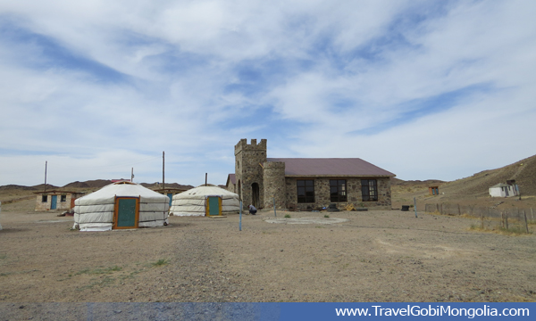 Ganbaatar local ger guesthouse at Ongi Monastery Ruins in Middle Gobi.