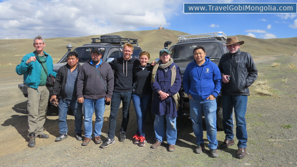 our customers are in front of 2 cars in Gobi