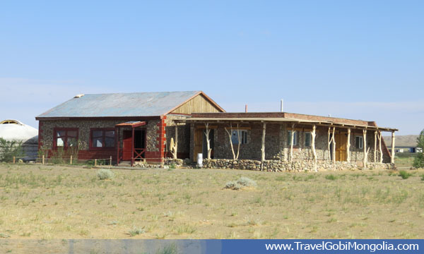 restaurant of the Juulchin Gobi 2 tourist ger camp in Gobi Desert