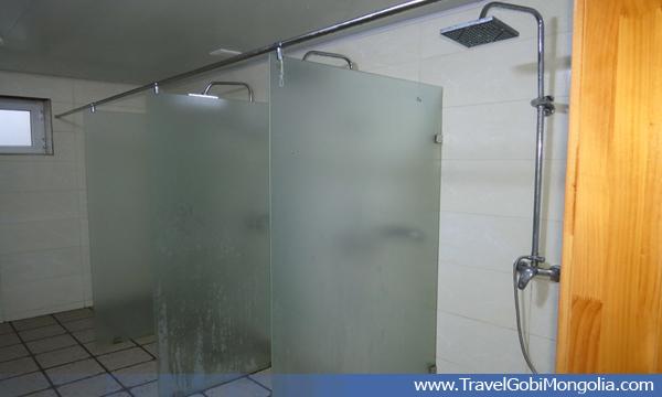 Shower facilities of Terelj Lodge tourist ger camp at Gorkhi-Terelj National Park.