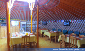 inside of the restaurant of Gobi Mirage TGC
