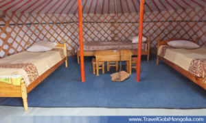 ger interior of Erdene Ukhaa TGC