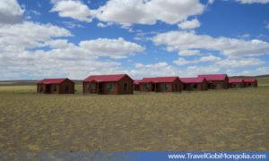 wooden houses of Gobi Erdene TGC