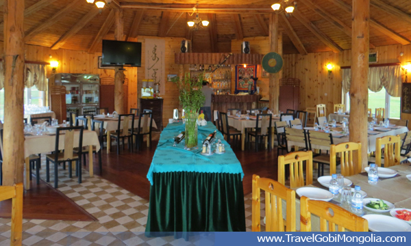 inside view of restaurant of Terelj Lodge