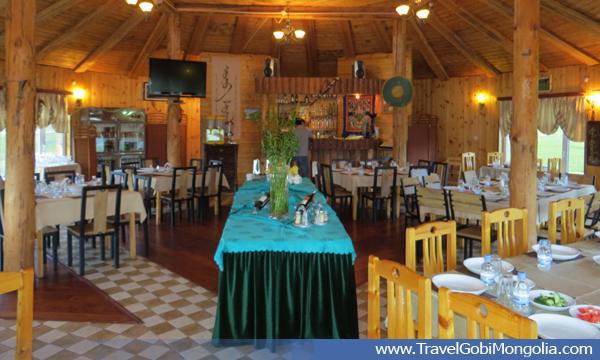 inside view of restaurant of Terelj Lodge