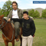 our customer is riding horse in Terelj
