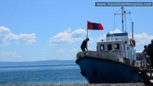 boat on Khuvsgul Lake