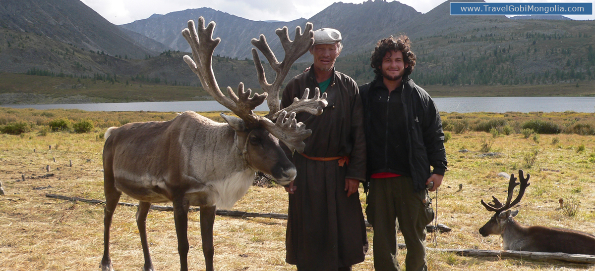 our customer is with a reindeer herder